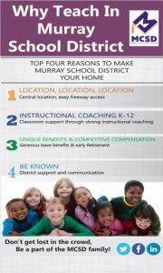 Flyer with reasons to teach in the Murray City School District.